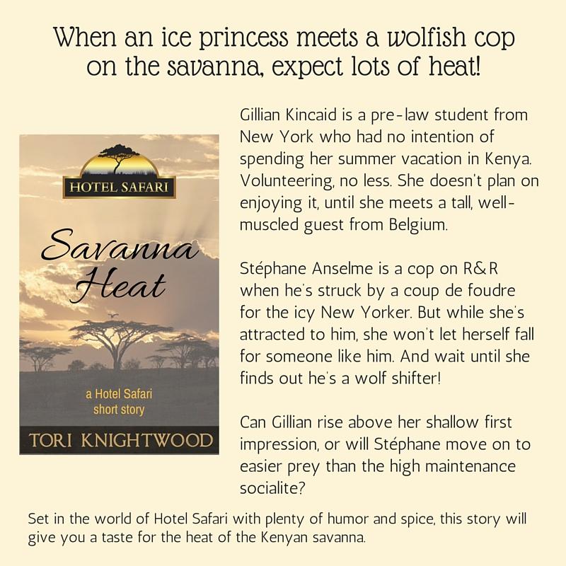 Summary of Savanna Heat, one of Tori Knightwood's free stories